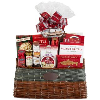 SAVORY GIFT BASKET WITH SWEETS