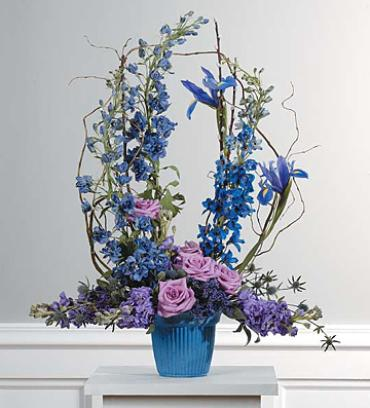 Lavender and Blue Mache Arrangement