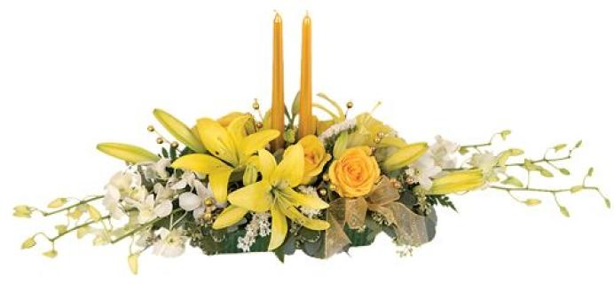 Golden Light Centerpiece