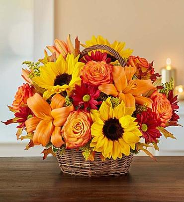 Fields Of Europe Fall Basket-Large