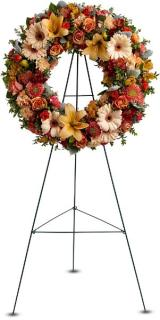 Remembrance Wreath In Fall Colors