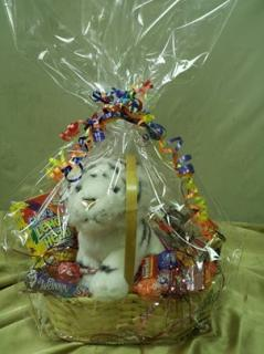 SURPRISE! PLUSH ANIMAL CANDY & SNACK BASKET
