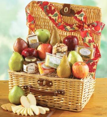 Elegant Fruit & Cheese Basket