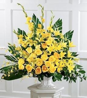 Sympathy Arrangement In Yellow