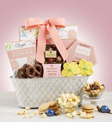 FULL BLOOM SWEET TREATS BASKET FOR MOM