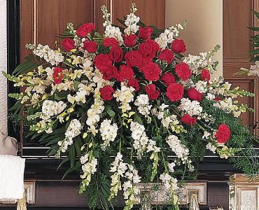 A Loving Red Rose Casket Spray