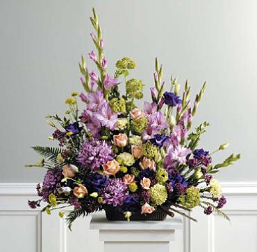 Purple, Peach and Green Traditional Arrangement