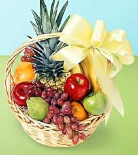 FRUIT BASKET WITH BOW