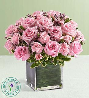 FANCY PINK ROSES CUBED