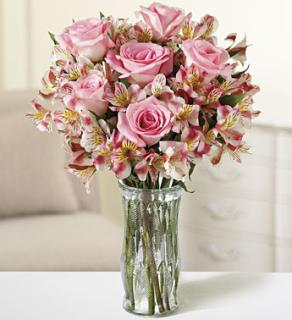 Pink Rose & Alstromeria Bouquet