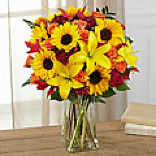 HARVEST HEARTSTRINGS VASE ARRANGEMENT