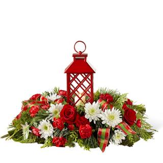 RED LANTERN SEASONAL CENTERPIECE