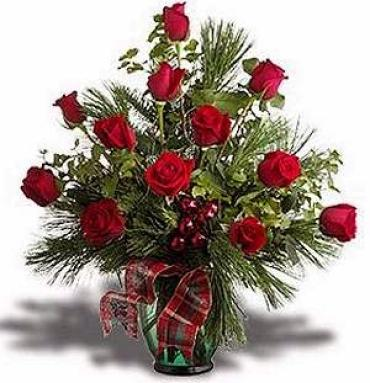 WINTERS RED ROSES DELIGHT