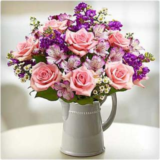 MAKE HER DAY BOUQUET WITH PINK ROSES