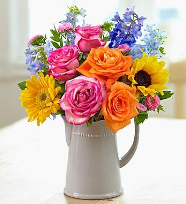 COUNTRY GARDEN PITCHER BOUQUET