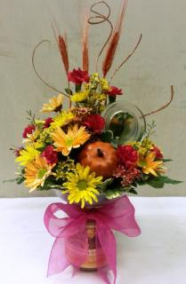 FANCIES CANDLE DELIGHT FLOWER ARRANGMENT