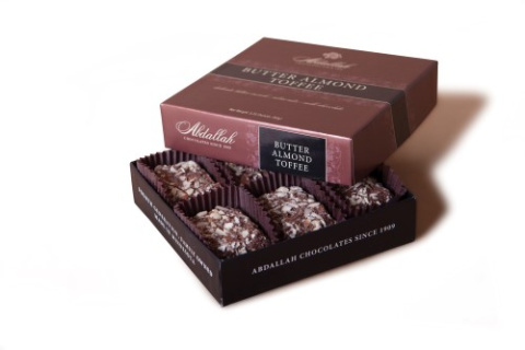 ABDALLAH BUTTER ALMOND TOFFEE 3oz BOX