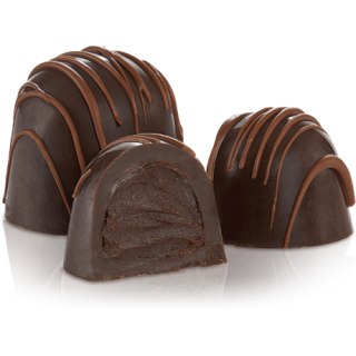 TRUFFLE:  MOCHA DARK CHOCOLATE .84OZ
