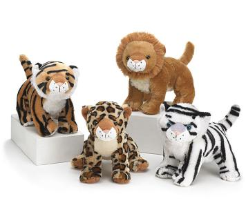 "PLUSH WILD ANIMALS 8"" SITTING"