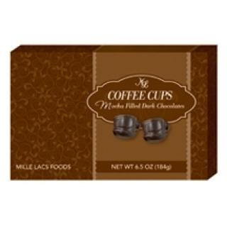 WHIMSICAL DARK CHOCOLATE MOCHA COFFEE CUPS 6.5 OZ BOX