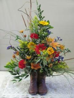 Wildflower Boot Bouquet