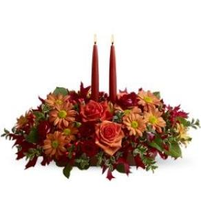 Roses and Daisys Autumn Centerpiece