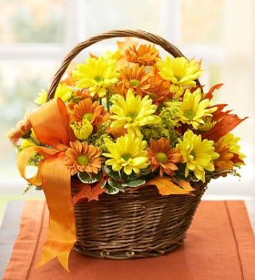 PRETTY FALL DAISY BASKET