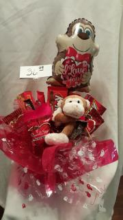 LOVEY CANDY BOUQUET WITH MONKEY