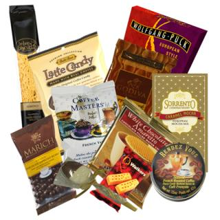 COFFEE LOVER\'S BASKET OF COFFEE & GOODIES