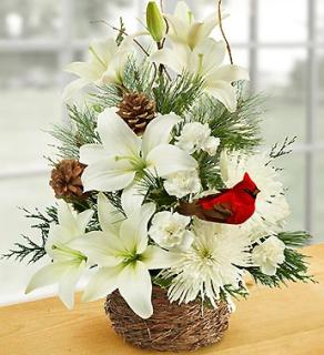 WINTERTIME FLORAL BIRD NEST