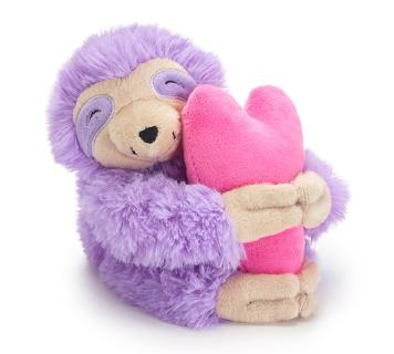 BABY LAVENDER SLOTH PINK HEART