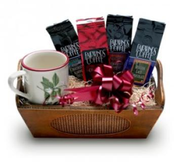 COFFEE AND CHOCOLATE SURPRISE BASKET