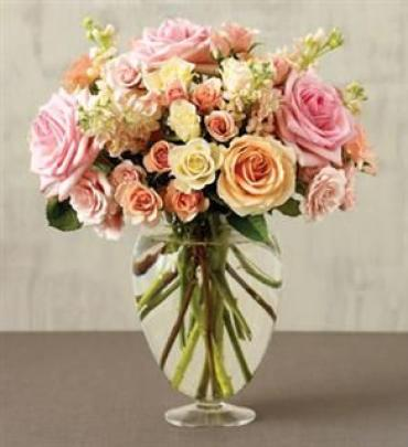 Mixed Rose and Stock Bouquet