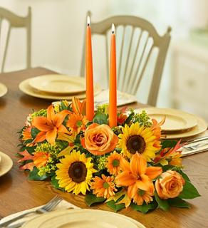 FALL FIELDS OF EUROPE CENTERPIECE 2 CANDLE