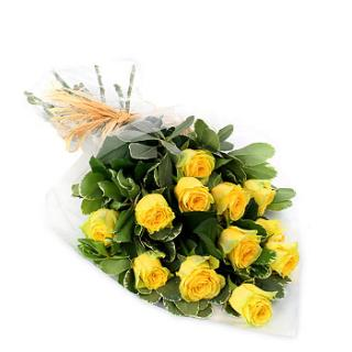 ON SALE! 12 YELLOW ROSES WRAPPED ONLY $18.99