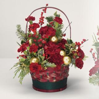 A Winter Greetings Basket