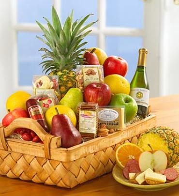 Abundant Fruit and Gourmet Basket