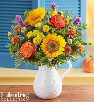 FALL FARMHOUSE MIDWESTERN PITCHER BOUQUET