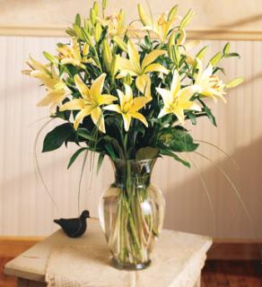 Lilies Arranged In Sympathy