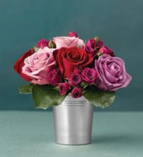 Julep Cup Of Mixed Roses
