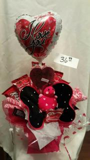 LOVEY CANDY BOUQUET WITH BUTTERFLY