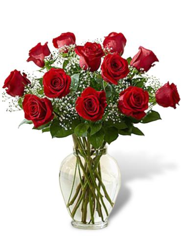 COVID-19 SPECIAL! FANCIES 1 DOZEN RED ROSES ARRANGED