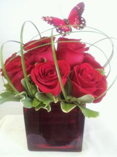 FANCIES FLOWERS RED ROSES DELIGHT