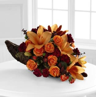 HARVEST HOME CORNUCOPIA ARRANGEMENT