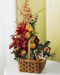 FLOWERS & FOOD BASKET